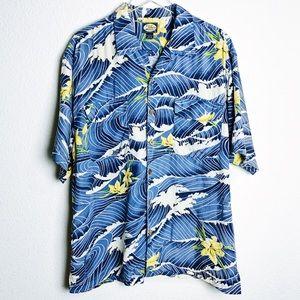 Tommy Bahama Surf The Wave Floral Hawaiian Shirt